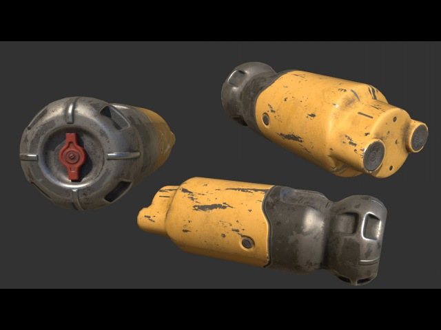 Fallout Fusion Cell p5 - Substance Painter Texturing