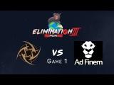 Elimination Mode 3 - NiP vs Ad Finem - Game 1