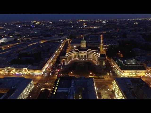 Вечерний Петербург с высоты птичьего полета