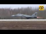 Во время разгона в Бобруйске у самолёта Миг-29 загорелся двигатель