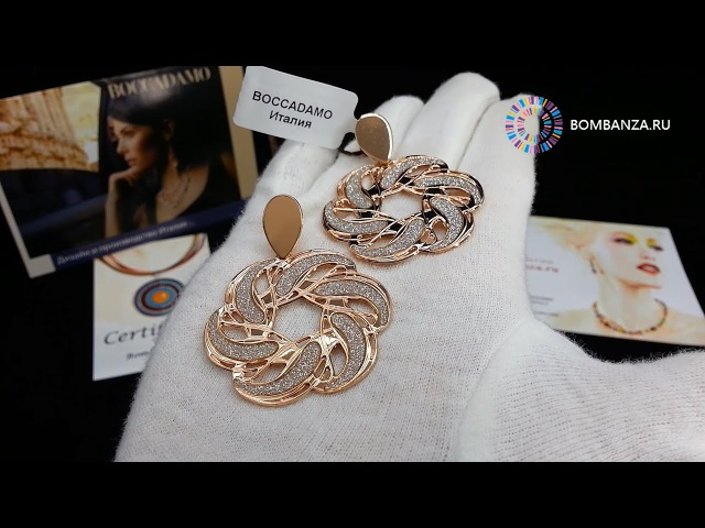 Серьги Boccadamo Nodo D'Amore, XOR169RS S/RG. Элитная бижутерия из Италии