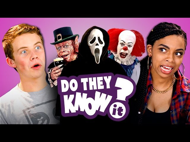 DO TEENS KNOW 90s HORROR FILMS (REACT Do They Know It)