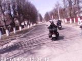Колонна на открытие мотосезона 2017 в Кольчугино
