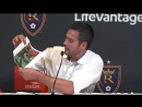Mike Petke on fire at the RSL press conference