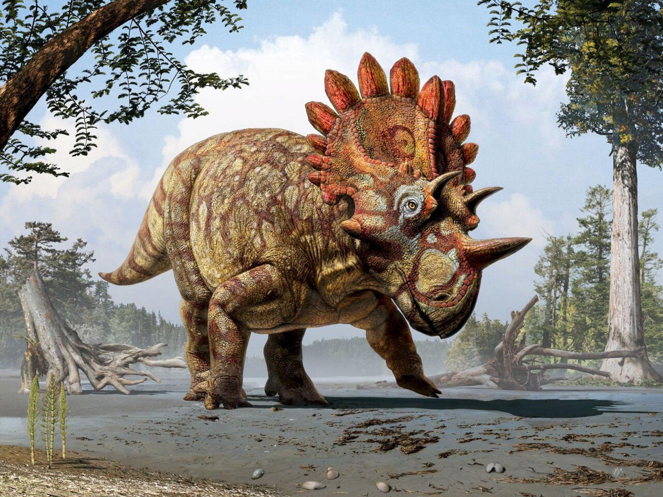Массивный динозавр