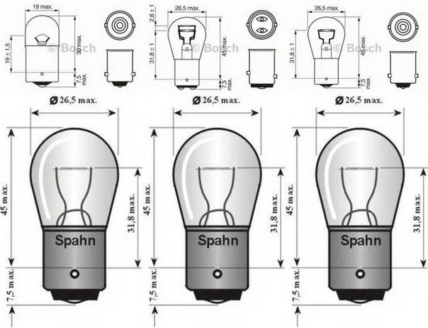 Лампа накаливания, фонарь указателя поворота для AUDI V8 (44_, 4C_)