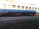 Электропоезд эр2р-7034 сообщением №6446 Красный Лиман-Харьков(Л) отправляется с платформы Подгорки