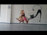 pole-dance duet