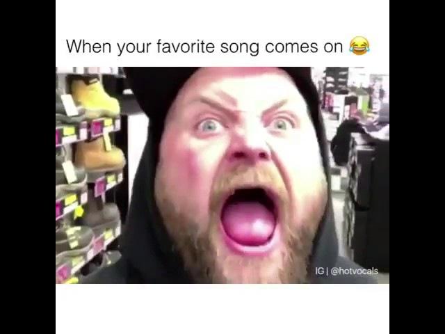 Когда заиграла любимая песня