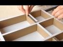 DIY How to make a cardboard drawer organizer HD corrugated cardboard furniture