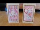 Обзор отшитых открыток Маленький купидон , С любовью - 3 от ТМ Абрис Арт