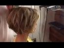 Объемная укладка на короткие волосы
