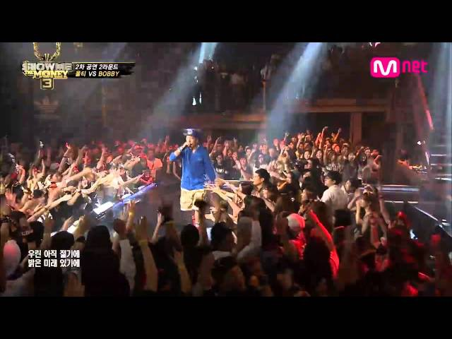 Mnet [쇼미더머니3] EP.08 : BOBBY(바비) - L4L(Lookin' For Luv) (feat.Dok2 The Quiett) @ 2차 공연