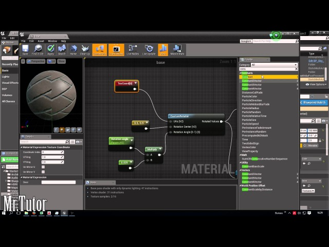 UE4-How to rotate textures inside unreal engine 4