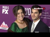 Darren Criss, Mia Swier arrive at Feud: Bette and Joan Los Angeles premiere