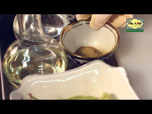 Салат Лансай в кафе узбекской кухни «Бахор»