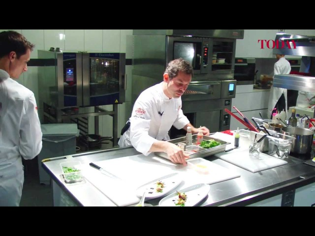French 3-Star Michelin Chef Pascal Barbot Cooks Butternut Ravioli With Creamy Lobster Bisque