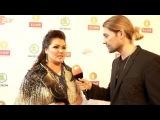 Anna Netrebko &amp David Garrett - Backstage interview Echo Klassik Awards 2016 (Berlin, 9-10-2016)