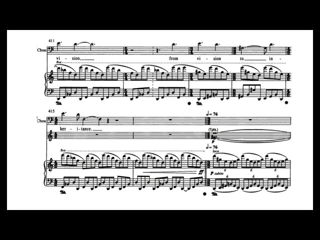 John Adams - Nixon in China - Live at the ENO 2000 (with Score) - Part 2