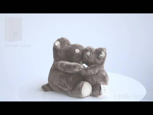 Peluche hippo Histoire D'Ours une cuillère pour doudou !