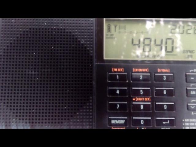 4840 kHz WWCR Nashville, 22/06/17 USA
