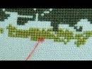 32 - МК Закрепление нити микро стежком без хвостиков на лице и переворота рамы. Ви ...
