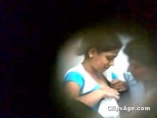 Indian girlfriend getting her boobs sucking inside internet cafe hidden cam video