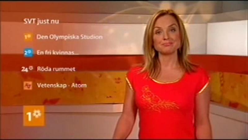Анонс, диктор и фрагмент эфира (SVT1 [Швеция], август 2008)