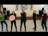 Инсценировка фильма Мстители на районном Осеннем балу