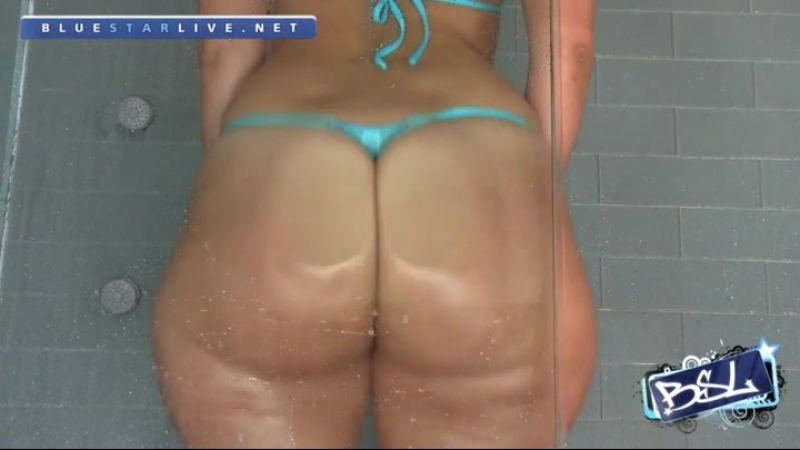Rosee Divine in gold blue thong shower HD french big ass booty butts tits boobs bbw pawg curvy chubby wide