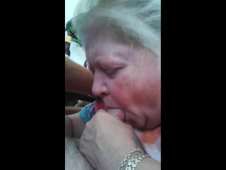 Time worn granny sucking my dick balls deep in amateur pov clip