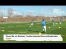 Fussballtraining Die Passlinie mit Torschuss Passen Technik