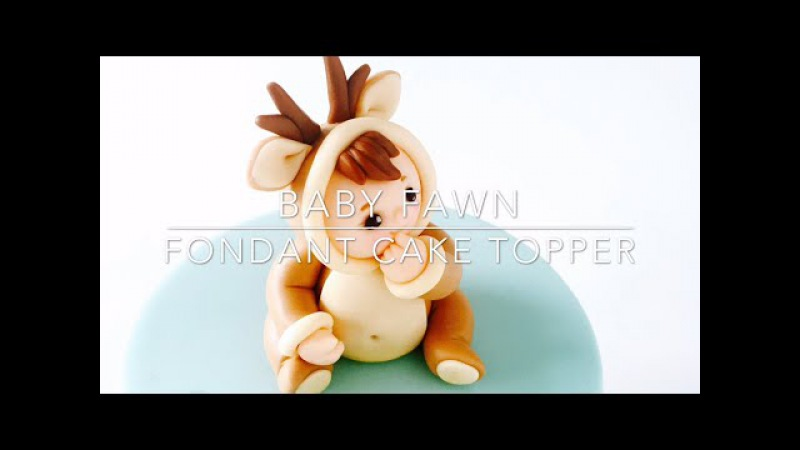How to make a fondant Baby Fawn cake topper