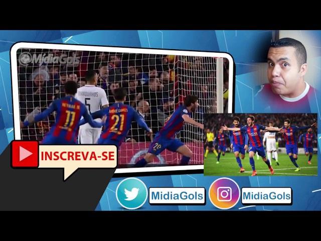 NEYMAR para SERGI ROBERTO e GOL do BARCELONA OITO NARRAÇÕES Barcelona 6 x 1 PSG