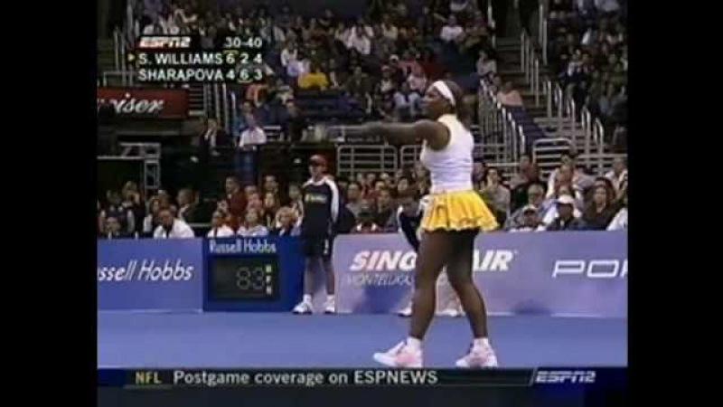 [HL] Maria Sharapova vs. Serena Williams 2004 WTA Championships [F]