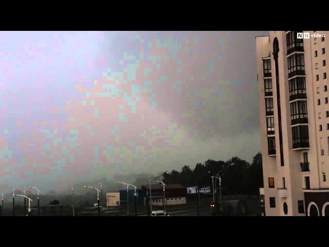 Смерч в Минске 1 июня 2014 года. Tornado in Minsk on June 1, 2014