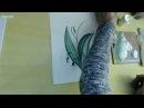 Рисуем весенний букетик - ландыши,фиалка и веточка березы. Урок Зинаиды Голубевой.