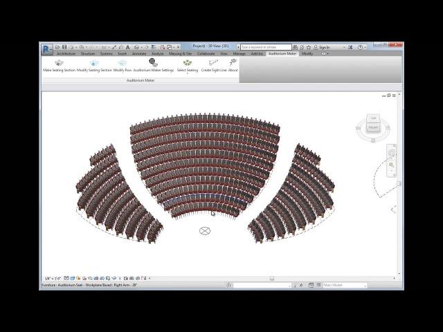 Auditorium Maker 2017 for Revit® 2015, 2016, 2017