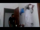 Funny video of pathan. electric  shock. prank by his friend.