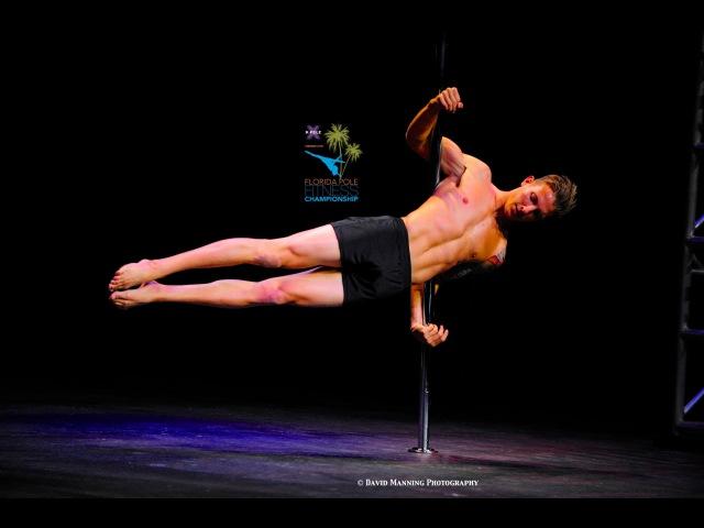 Florida Pole Fitness Championship 2014 Tyler Barnett Men's Division