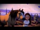"""Спирит: Скачки на Свободе [s01e03] - """"Лаки и Загадочная Карта"""" Spirit Riding Free (субтитры)"""