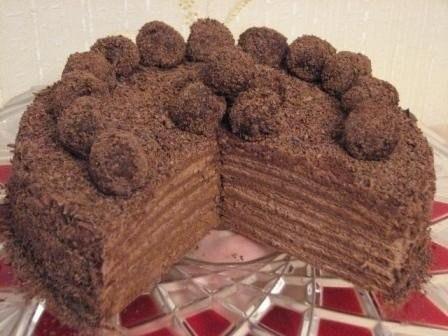 Рецепт торта шоколадно трюфельный