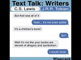 text talk writers C.S.Lewis &amp J.R.R.Tolkien