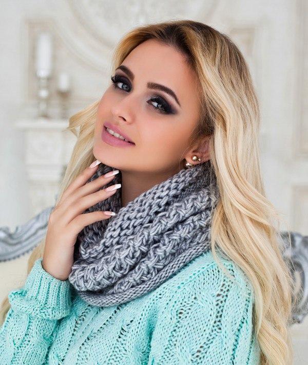 Шарф-снуд как правильно носить, история шарфа снуд