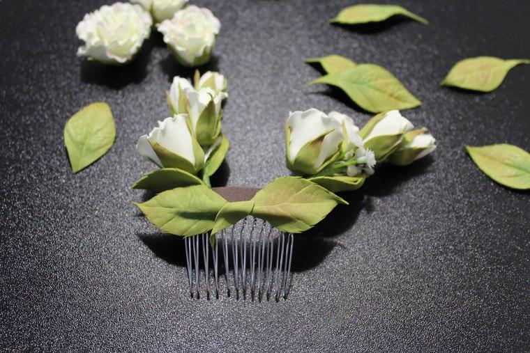 свадебный гребень фоамиран, как сделать розу из фоамирана мастер-класс
