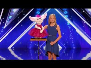 Darci Lynne_ 12-Year-Old Singing Ventriloquist Gets Golden Buzzer - Americas Got Talent 2017