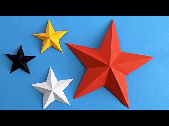 Как сделать звезду из бумаги Оригами звезда из бумаги Origami star