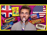 TRYING CHILDHOOD SNACKS - BRITISH VS AMERICAN