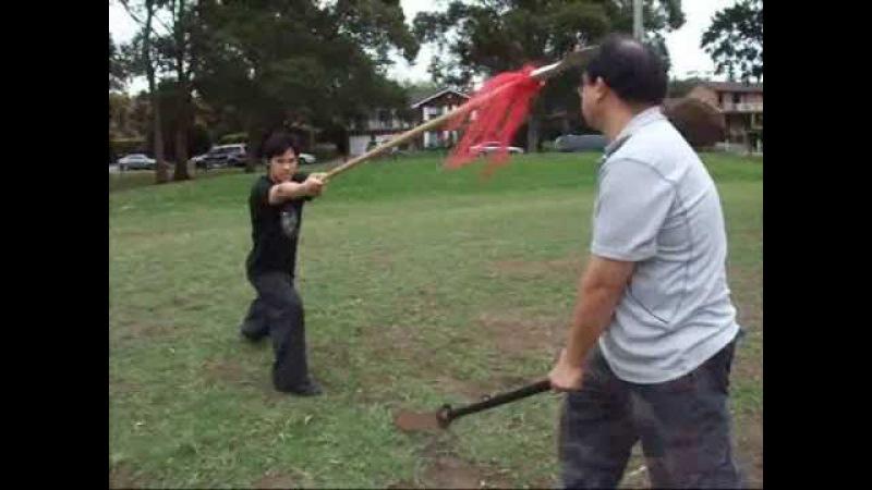 少林黑虎門 五虎槍 Sil Lum Hark Fu Mun Shaolin Black Tiger Ng Fu Spear w Application