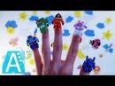 Папа пальчик. Мама пальчик. Семья пальчиков. Песенка про пальчики. Сборник. Finger Fam...